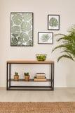 Pokój z roślina motywami ilustracji