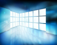 pokój z wielkim okno również zwrócić corel ilustracji wektora ilustracja wektor