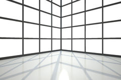 Pokój zakrywający z okno ilustracja wektor