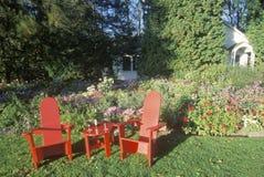 Pokładów czerwoni krzesła Obraz Stock