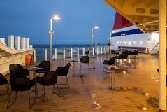 Pokład ferryboat przy nocą obrazy royalty free