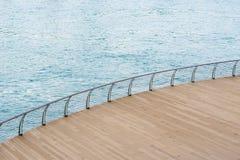 Pokład i morze Zdjęcia Stock
