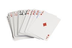 Pokład sprostać karty rozszerzanie się Zdjęcie Stock