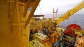 Pokładu ładunku operacje na na morzu wiertniczym takielunku zbiory