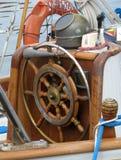 pokładu czerepu stary żeglowania jacht Obrazy Stock