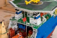 Pokładu wyposażenie na szalkowego modela statku Zdjęcia Royalty Free