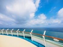 Pokład luksusowy statek wycieczkowy Fotografia Royalty Free