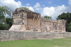 Pok ta pok ball court, Chichen Itza, Mexico Royalty Free Stock Images