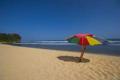 Pok Tunggal海滩,日惹,印度尼西亚 库存照片