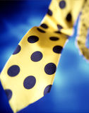 Poka dot yellow tie Stock Images