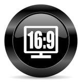 16 9 pokazów ikona Zdjęcia Stock