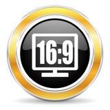 16 9 pokazów ikona Obraz Royalty Free