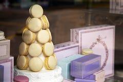 pokazów macarons Fotografia Royalty Free