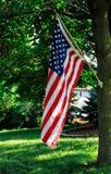 pokaz amerykańska flaga Obraz Royalty Free