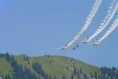 pokaz byka powietrza czerwona drużyna Zdjęcia Royalty Free