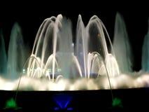pokaz fontanny noc Zdjęcia Stock