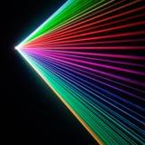 pokaz laserowy refrakcji promieni laserowych Obrazy Royalty Free