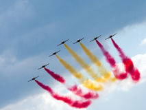 Pokaz lotniczy Zdjęcia Royalty Free