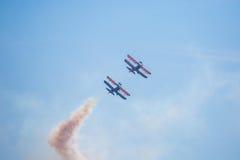 pokaz lotniczy dym obrazy royalty free