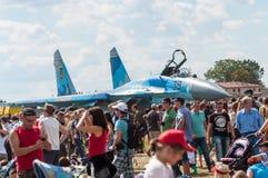 Pokaz Lotniczy 2013, Radomski 30 2013 Sierpień Obrazy Royalty Free