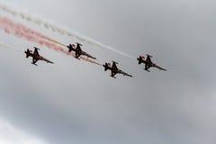 Pokaz Lotniczy Tureckie gwiazdy Zdjęcia Royalty Free