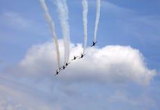 Pokaz lotniczy w niebie Fotografia Stock