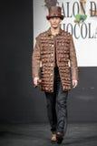 Pokaz mody na wybiegu podczas powystawowego salonu Du Chocolat Obraz Stock