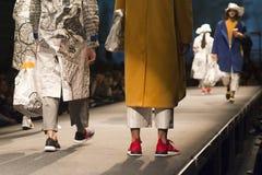 Pokaz mody ucznie mody szkoła Obrazy Royalty Free