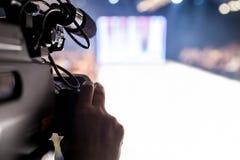Pokaz Mody, wybiegu wydarzenia telewizi transmisja obrazy royalty free