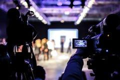 Pokaz Mody, wybiegu wydarzenia telewizi transmisja fotografia stock