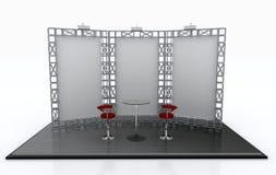 pokazu eksponata przedstawienie stojaka handel ilustracja wektor