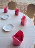 pokazu hotelu stół Obrazy Stock