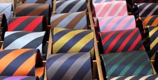 pokazu jedwabiu pasiaści krawaty Obraz Royalty Free