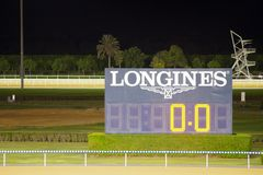 Pokazu panel sponsorujący Longines obrazy stock