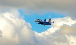 Pokazuje demonstracja lot przy MAKS 2015 zdjęcie stock