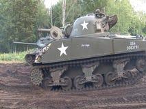 Pokazuje dla reenactment ww2 amerykanina pojazdy wojskowi zdjęcie wideo