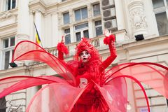 Pokazuje inside B-FIT w Ulicznym Bucharest 2014 Fotografia Stock
