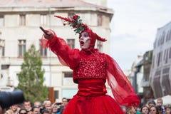 Pokazuje inside B-FIT w Ulicznym Bucharest 2014 Zdjęcie Royalty Free