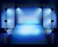 Pokazuje w scenie również zwrócić corel ilustracji wektora Obraz Stock