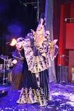 Pokazuje Weneckich karnawałowych magika iluzjonisty Raman polewki barszcze Zdjęcia Royalty Free