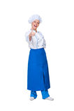 Pokazywać aprobaty szczęśliwy kucharz Obraz Royalty Free