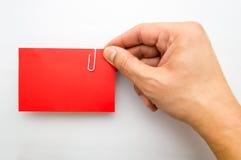 Pokazywać czerwoną wizyty kartę Zdjęcia Royalty Free