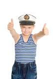 Pokazywać denny gest denna chłopiec Obrazy Royalty Free