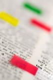 pokazywać etykietki etykietek słowo Obraz Stock