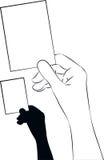 Pokazywać kartę Ilustracja Wektor