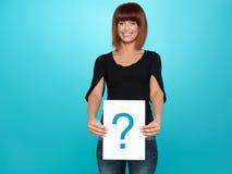 pokazywać kobiet potomstwa ładny oceny pytanie Obrazy Stock