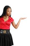 pokazywać kobiety biznesowy Amerykanin afrykańskiego pochodzenia copyspace Obraz Royalty Free