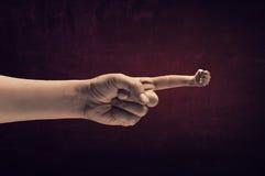 Pokazywać pięść gest Fotografia Stock