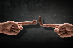 Pokazywać pięść gest Obrazy Stock