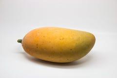 pokazywać pokrojonej kobiety owoc rżnięty owocowy mango Zdjęcie Royalty Free